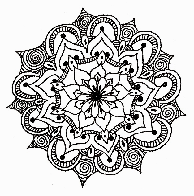mandala coloring pages of sunday - photo#21