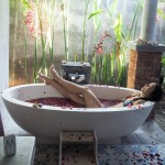 Bali life is pretty good. As in, it's amazing. I'm grateful for every single second of it. And the tub is definitely a bonus :) When we still lived in Java I got dengue fever and typhoid a few times. You just get sick a bit easier here in the tropics. We didn't have hot water for years, and when we left I knew I wanted to move to house with a bath for the days we get ill. When the soreness and the aching gets into your bones and your knuckles, and it hurts even to lie down, nothing is more relieving than a nice warm bath. And a little self-care on the weekends never hurts!