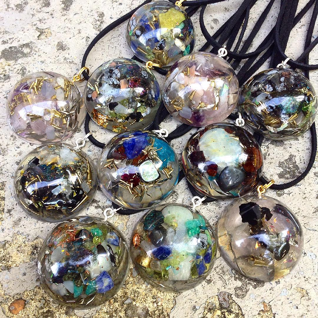 Latest orgone Lens Necklaces