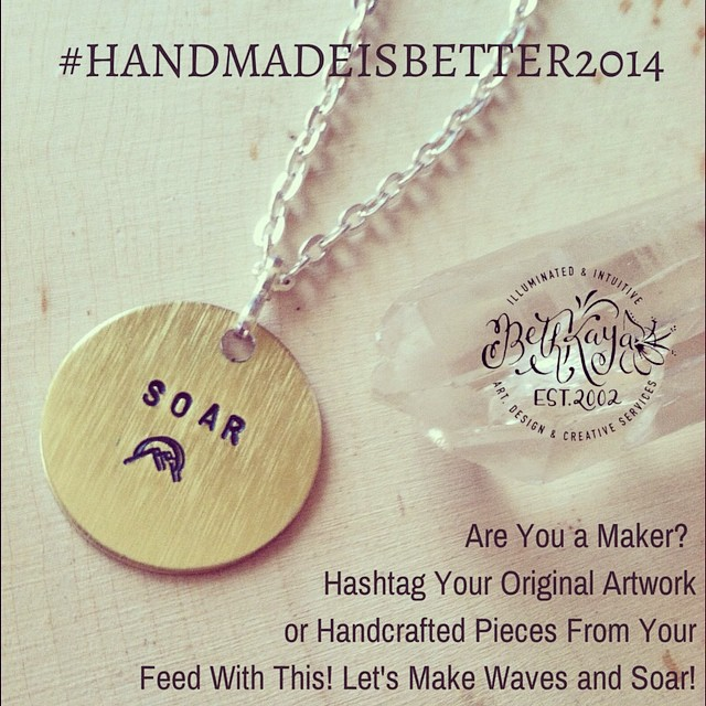 Really over the moon about the show of excitement towards this little handmaker spotlight I am trying to shed in time for us to make waves this Holiday season. I would love for any maker to go back through your feed and hashtag your original creations for sale with #handmadeisbetter2014 . If we all join hands and do this - and also ask others to check this out - we can make a serious statement about how important it is to be able to live your passion, support dreams, and give sustainable things away during the gift giving season. Thank you so much for your shares and all of your emails. Working to get through them and promise I will, but this is one way for you to stand up and do your part. Even if you aren't a maker - many of you share your photos of things you've bought to support us! Hashtag those photos too - you plugged us for a reason. Sending Love, Blessings, Dream Like Visions and Encouragement!!