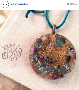 Thank you @etsyhunter for featuring this Metatrons Cube Orgone Necklace