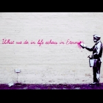 #truth #canthidefromyourdeeds #banksy