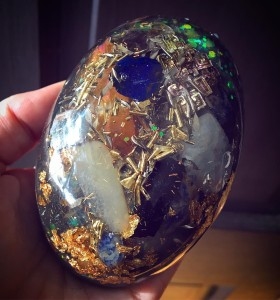 An incredible egg  featuring bismuth azurite tangerine aura hellip