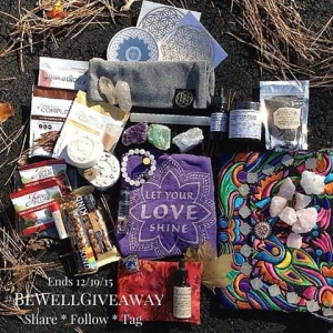 "✨I am really excited to bring you this #Wellness geared collab #giveaway. This is an old school style - #Share #Tag and #Follow giveaway featuring incredible indie brands all with the focus of inspiring sacred living ?and vitality. ?To Enter To Win Everything in this Photo Just simply follow everyone tagged and repost this photo with the hashtag #BEWELLGIVEAWAY . Please only 1 daily entry and no spam/giveaway accounts. ?Sponsors to Follow/ Prizes: ? @SUPERLOVETEES - ""Shine your Love Light Tank""  @SEEDESSENTIALS - Milky Quartz and Black Porcelain Diffusing Bracelet with Wild Orange Essential Oil Sample @ORGANICALBOTANICAL - Crown Chakra Plant Tincture & Lavender Blossom Hand and Body Butter @THEORGANICLIFEWITHEMILY - Juice Plus Supplement Shakes and Gummies, Quartz Crystal Specimen, Bag of Rose Quartz @SACREDSTATEDESIGN - Flower of Life Beanie, Vinyl Sacred Geometry Decals, Hand Dug Quartz Points @BODYBEEWELL - Lavender Compress, Master Tonic Blend @MAL_WINGOSTARRJEWELRY - Large Selenite Wand, Amethyst Cluster, Blue and Green Large Calcite Chunks @ADDICTEDTOHAPPYONLINE Embroidered & Embellished Clutch Bag @BUTTERFLYWELLNESSBETH - Fitness band, Kind Bars, Vegan Shakeology, Mandala Sticker, Juice Plus Samples  @BETHKAYA - #Faithfulgrace Gem and Botanical Fragrance Oil, Java Charcoal Scrub, Lip Balm, Orgone Tuncated Pyramid, Shea Faithful Soap & Crystal Bath Bomb ✨Thank you all for entering and to my beautiful sponsors! This is a wonderful love bomb! #goodluck✨  This promotion is in no way affiliated or endorsed by instagram, you must be 18 years or older to enter."
