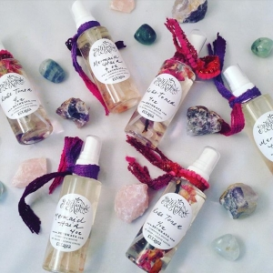 ? ️happy hands make happy things ? #crystalinfused #toner #haircare #bybethkaya