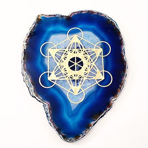 Restocked Large Agate Plates with Sacred Geometry Symbols